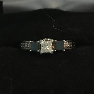 Full karat diamond engagement ring